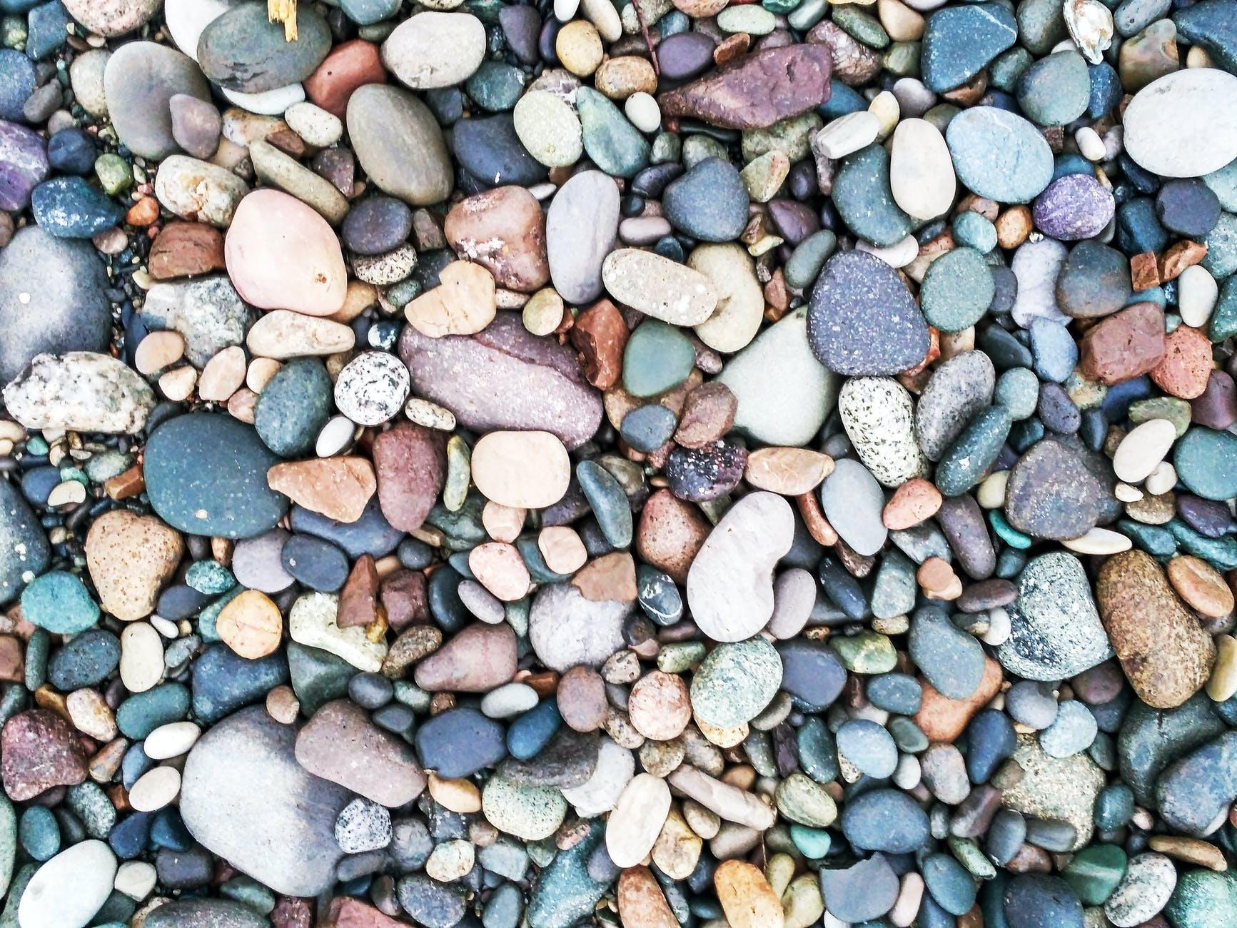 assorted colors rocks